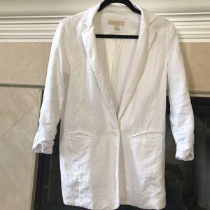 Michael kors 100%linen blazer jacket